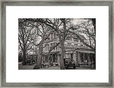 Magnolia Pearl Supply Company Framed Print by Charles Dobbs