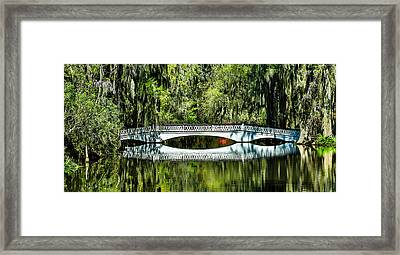 Magnolia Plantation Bridge - Charleston Sc Framed Print