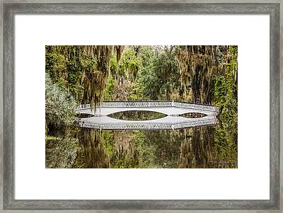 Magnolia Plantation Gardens Bridge Framed Print