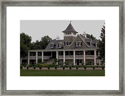 Magnolia Plantation Home Framed Print by DigiArt Diaries by Vicky B Fuller