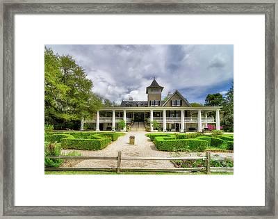 Magnolia Plantation Home Framed Print by Drew Castelhano