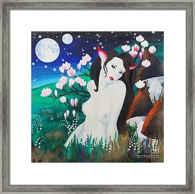 Magnolia Framed Print by Tiina Rauk