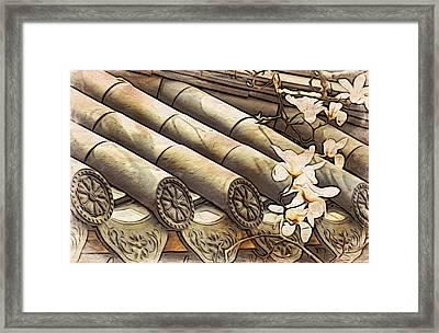 Magnolia Tiles Framed Print