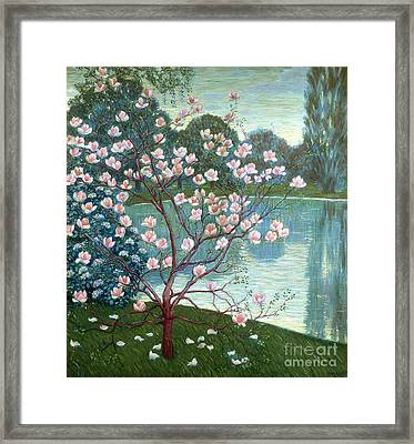 Magnolia Framed Print by Wilhelm List