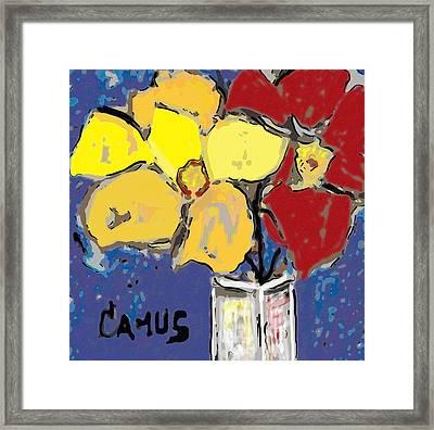Magnolia Y Colores Framed Print by Carlos Camus