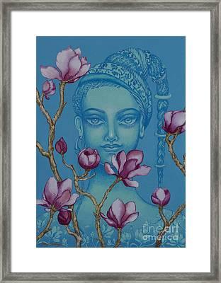 Magnolia Framed Print by Yuliya Glavnaya