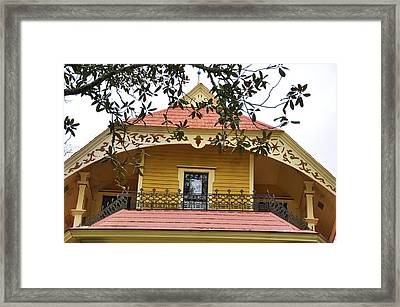 Magnolias And Millwork Framed Print by Jan Amiss Photography