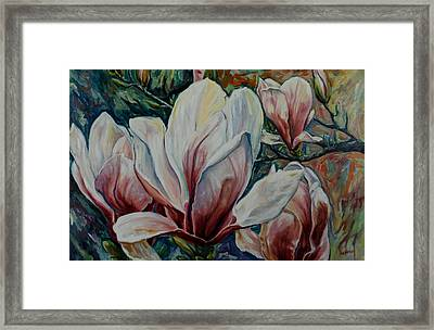 Magnolias Framed Print by Rick Nederlof