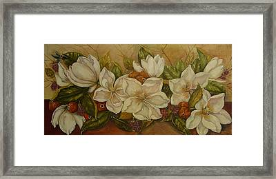 Magnolias Framed Print by Tresa Crain