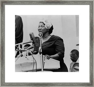 Mahalia Jackson 1911-1972, Singing Framed Print by Everett