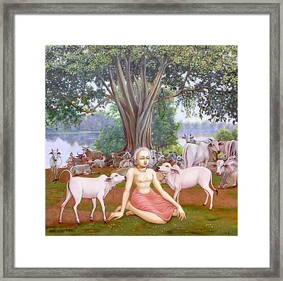 Mahaprabhu In Vrindavan 1 Framed Print by Dominique Amendola