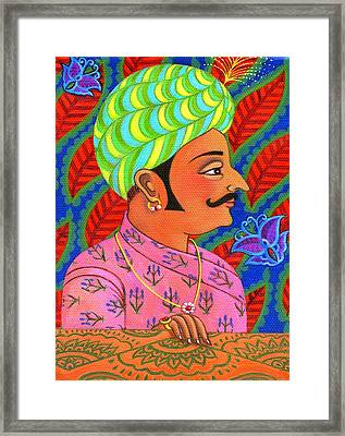 Maharaja With Butterflies Framed Print by Jane Tattersfield
