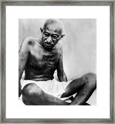 Mahatma Gandhi, 78, Pauses Framed Print by Everett