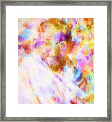 Mahatma Gandhi Framed Print by Dan Sproul