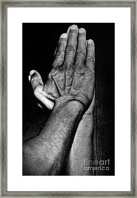Mahatma Gandhi In Greeting Pose Framed Print by Indian School