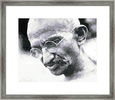 Mahatma Gandhi Framed Print by Mal Bray