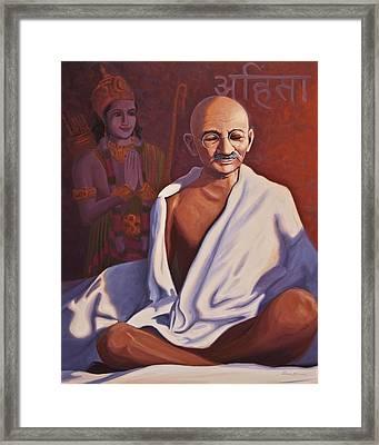 Mahatma Gandhi Framed Print