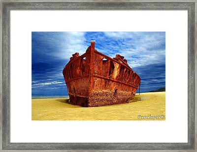 Maheno Shipwreck Fraser Island Queensland Australia Framed Print