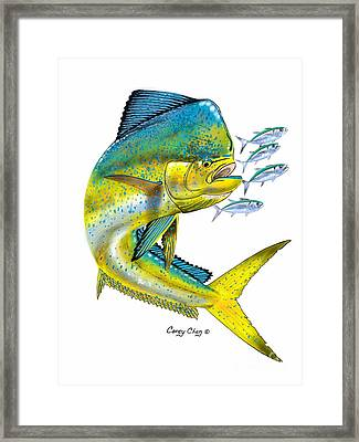 Mahi Digital Framed Print by Carey Chen