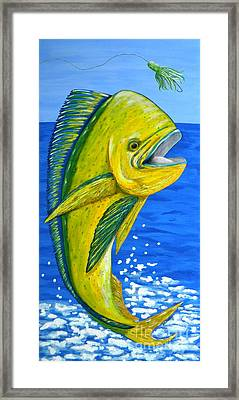 Mahi Mahi Framed Print by JoAnn Wheeler