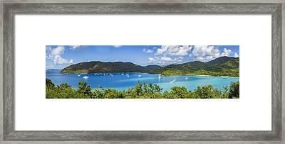 Framed Print featuring the photograph Maho And Francis Bays On St. John, Usvi by Adam Romanowicz