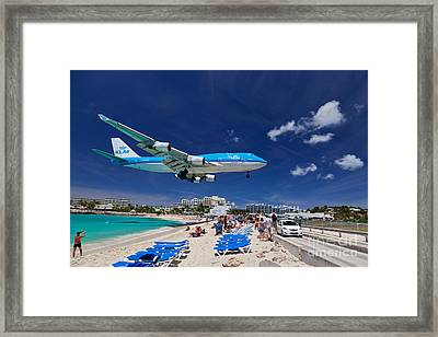 Maho Beach Framed Print