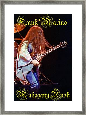 Mahogany Rush Seattle #2 With Text Framed Print