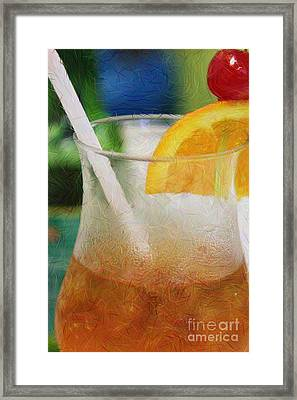Mai Tai Anyone Framed Print by Lori Mellen-Pagliaro