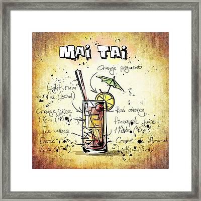 Mai Tai Framed Print by Movie Poster Prints
