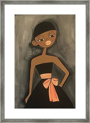Maid Of Honor Black Dress Framed Print
