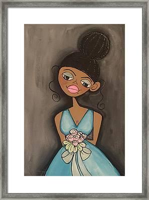 Maid Of Honor Blue Dress Framed Print