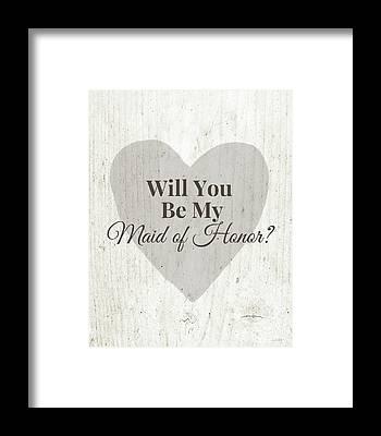 Wedding Invitation Framed Prints