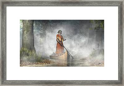 Maid Of The Mists Framed Print
