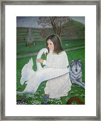 Maiden Goddess Brigit - Imbolc Framed Print