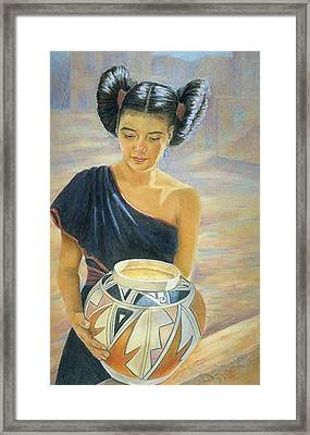 Maiden Of The Mesa Framed Print