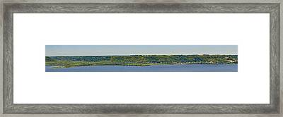 Framed Print featuring the photograph Maiden Rock, Wi by Dan Traun
