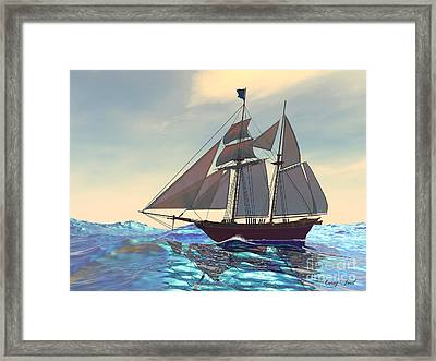 Maiden Voyage Framed Print by Corey Ford