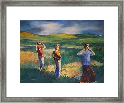 Maidens Three Framed Print