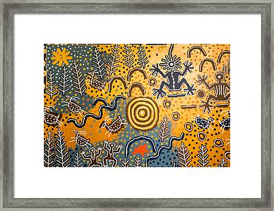 Maidu Creation Story Framed Print