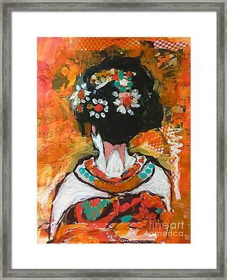 Maiko In Orange  Framed Print