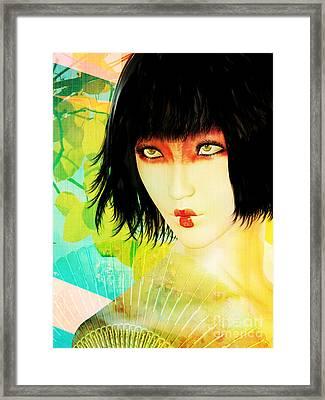 Maiko Framed Print by Shanina Conway