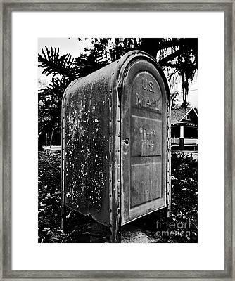 Mail Box Framed Print by David Lee Thompson
