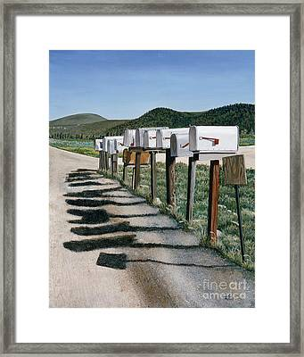 Mail Boxes Framed Print