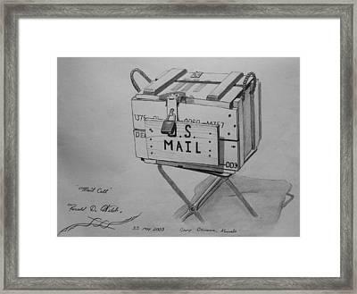 Mail Call Framed Print