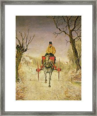 Mail Cart Christmas Framed Print by R R Ripley
