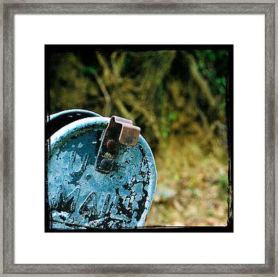 Mail Framed Print by Leon Hollins III