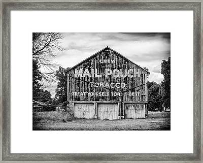 Mail Pouch Barn - Us 30 #2 Framed Print