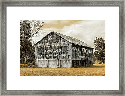 Mail Pouch Barn - Us 30 #3 Framed Print