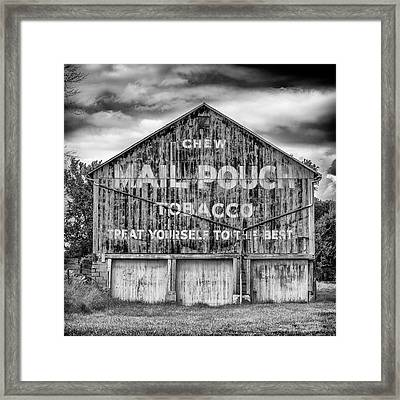 Mail Pouch Barn - Us 30 #6 Framed Print