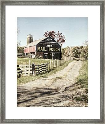 Mail Pouch Lane Framed Print